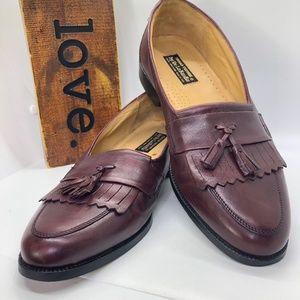 ITALIAN Couture by De La Renfis Men's Slip On Fringe Leather Tassel Loafers -11